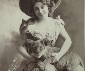 dress, lion, and old image