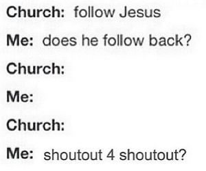 funny, church, and jesus image