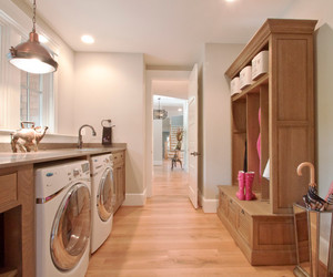 grey background, laundry room, and green boxes image