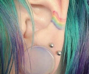 ear, pride, and rainbow image