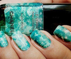 nails, chanel, and blue image