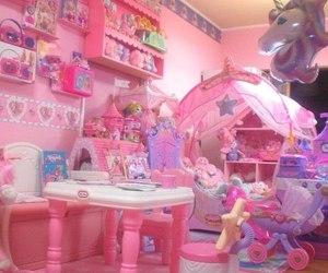 pink, kawaii, and room image