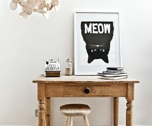 cat, meow, and wood image