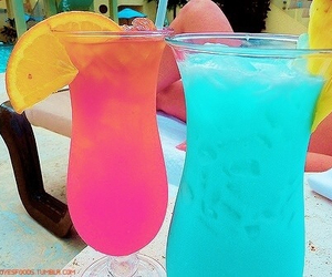 drink, summer, and pink image