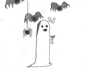 bats, ghost, and Halloween image
