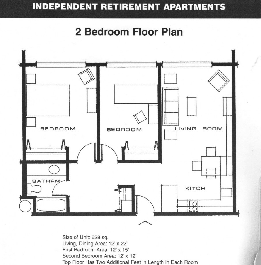 Independent Retirement Apartment Idea As Two Bedroom House ... on best small house plans, best narrow lot house plans, best luxury house plans, simple 2 bedroom ranch plans, best barn plans, 2 bed home plans, two bed house plans, best shooting house plans, only 2 bedroom home plans, best tree house plans, 2 br 1 bath house plans, 2 bed 2 bath house plans, best 1000 sq ft house plans, best craftsman home plans, best country house plans, 2 bedroom floor plans, best shop plans, best empty nester house plans, best l-shaped house plans, best 2 story house plans,