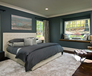 bedroom, light colors, and white color image