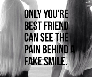 best friends, pain, and smile image