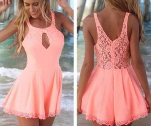dress, pink, and holiday image