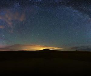aurora, idaho, and milky way image