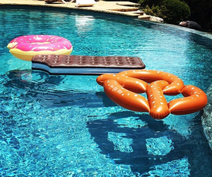 pool, cool, and donuts image