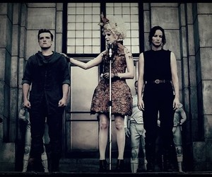 the hunger games, hunger games, and tribute image