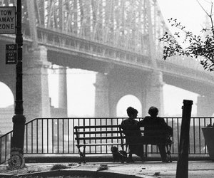 couple, manhattan, and black and white image