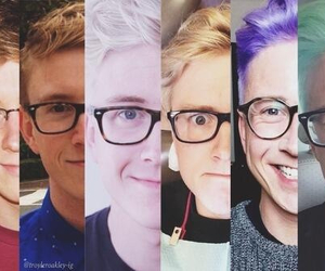 hair, tyler oakley, and youtube image
