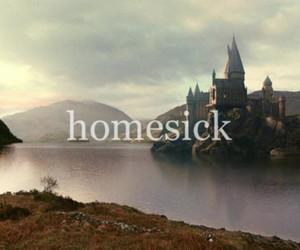 hogwarts, harry potter, and homesick image