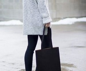 fashion, bag, and grey image