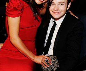 lea michele, chris colfer, and glee image