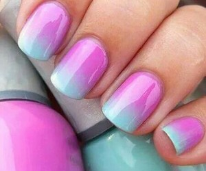nail art, vernis, and blie image