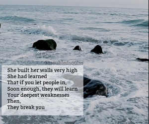 alone, ocean, and poems image