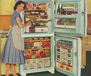 vintage, 50s, and food image