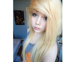 alt girl, dyed hair, and blonde hair image
