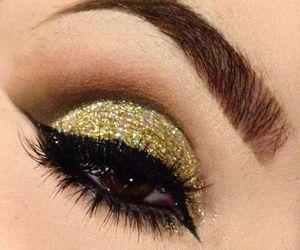 beauty, eyeliner, and gorgeous image
