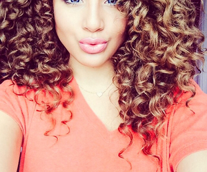 beautiful, hair, and curls image