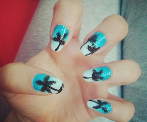 nails, summer, and love image
