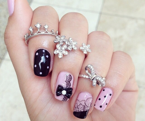 fashion, nails, and girly image