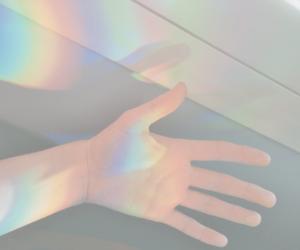 rainbow, hand, and grunge image