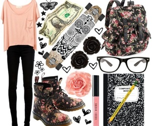 floral, outfit, and skate image