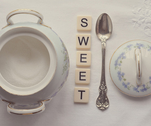 sweet, tea, and spoon image