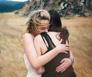 friends, girl, and hug image