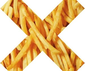 transparent, fries, and hipster image