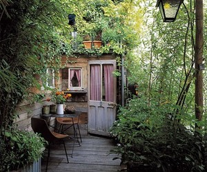 garden, house, and green image