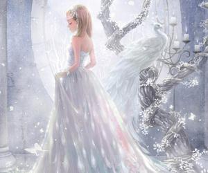 anime, white, and anime girl image
