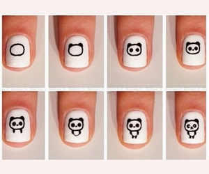 nails, panda, and tutorial image