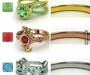 avatar, rings, and fire image