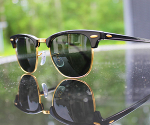 accessories, fashion, and rayban image