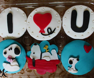 cupcakes, snoopy, and decoration image