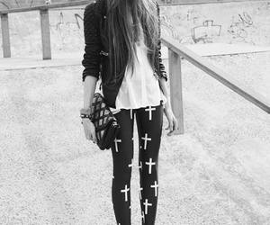 girl, style, and cross image