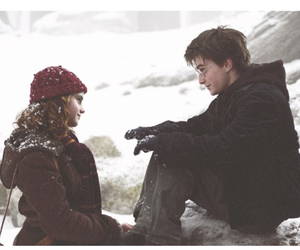 christmas, harry potter, and hermione image