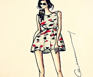 dress, fashion, and Ilustration image