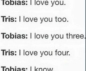 funny, tris prior, and tobias eaton image