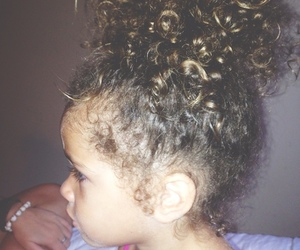 baby, curly hair, and interracial image