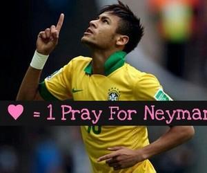neymar, brazil, and pray image
