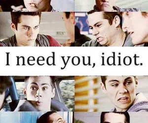 teen wolf, dylan o'brien, and idiot image