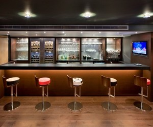 bar counter, home bar furniture, and home bar ideas image
