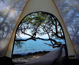 beach, bliss, and camping image