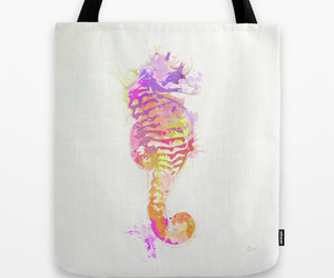 animals, art, and seahorse image